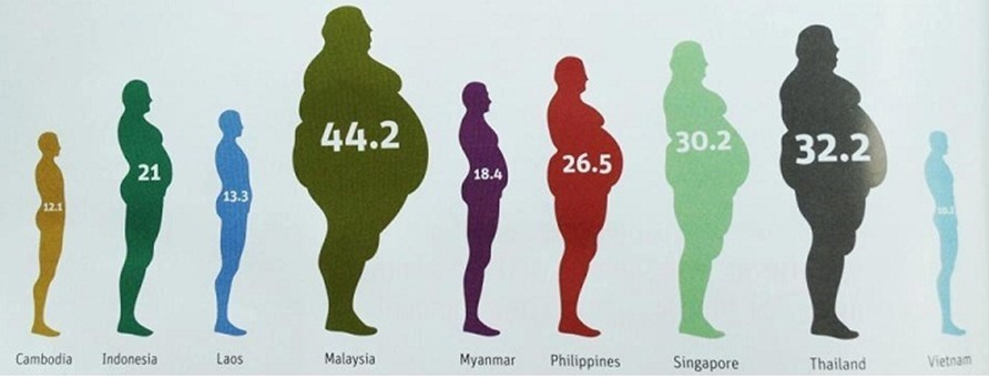 Obese Countrires in SE Asia